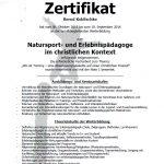 EP Zertifikat Bernd Koblischke 1